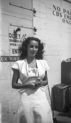 Outside the CBS Radio studios in 1946.    - ELLE.com
