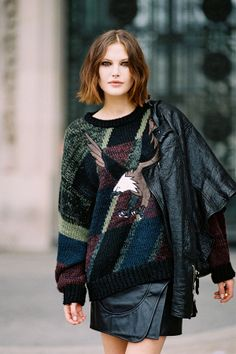 Australian model Catherine McNeil (Marilyn), after Paco Rabanne, Paris, October 2012.