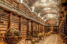 la piu' bella biblioteca del mondo-praga-