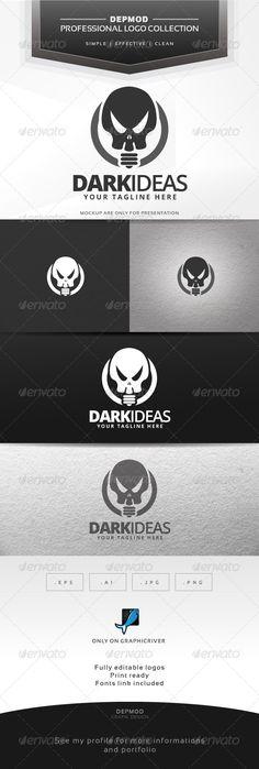 Dark Ideas Logo — Vector EPS #skull #vectors • Available here → https://graphicriver.net/item/dark-ideas-logo/6806677?ref=pxcr