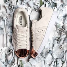 Dress from the feet up in the adidas Originals Womens Superstar 80s Metal Toe Trainer