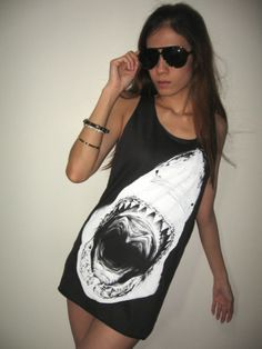 Jaws Shark The Largest Fish In The World Punk Rock Pop Tank