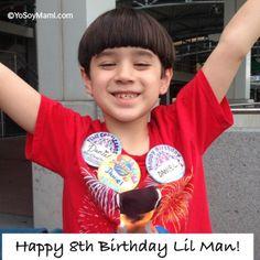 Lil Man celebrando su cumpleaños en Orlando.