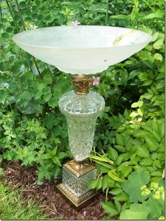 """Lamp Base Bird Baths""  [photo source Rose of confessionsofacurbshopaholic]'h4d'121228"
