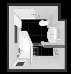 Indeling kleine badkamer (2.20 x 2.50) Toilet met inbouw reservoir (0 ...