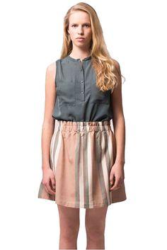 Studio JUX skirt stripes   Sophie Stone