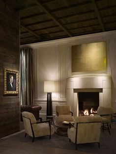 LIBRARY room at Public Chicago.  Love so many elements of this space.  Different woods, modern with classic, overall warmth.