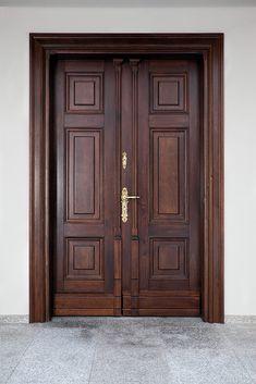 deRustic street door to Wooden Front Door Design, Wooden Double Doors, Modern Wooden Doors, Double Door Design, Wooden Front Doors, Modern Entrance Door, Main Entrance Door Design, Home Door Design, Door Design Interior