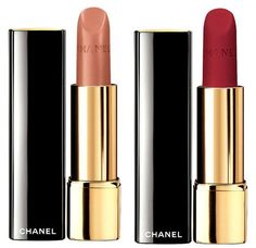 Chanel Les Automnales Fall 2015 Collection - Chanel Rouge Allure Lipstick •162 Meditation – pink-peach beige (Satin) •51 Lost & Delirious – red (Matt)