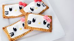 Breakfast Never Looked Cuter With Hello Kitty Pop-Tarts: You are going to fall instantly in love with these easy and adorable DIY Hello Kitty-inspired Pop-Tarts from Rachel Fong of Kawaii Sweet World!