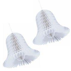 Honeycomb Wedding Bells- White 11 Inch 2ct  $3.25 (2 pcs)