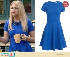 Melissa's blue fit and flare dress on Melissa and Joey.  Outfit Details: http://wornontv.net/31707/ #MelissaandJoey