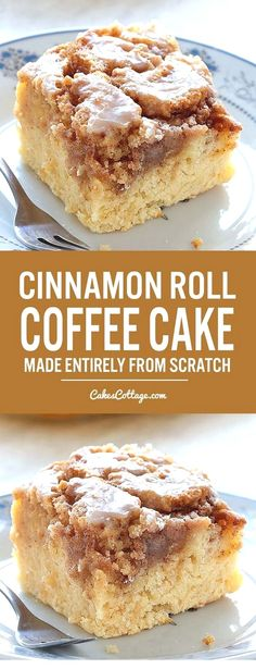 Easy Cinnamon Roll Coffee Cake is simple and quick recipe for delicious, homemad. - Easy Cinnamon Roll Coffee Cake is simple and quick recipe for delicious, homemade coffee cake from - Dessert Haloween, Sweet Recipes, Healthy Recipes, Quick Recipes, Cheap Recipes, Healthy Food, Simple Recipes, Easy Simple Desserts Quick, Healthy Cooking