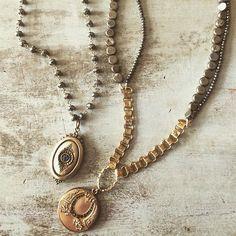 Vintage book chain and lockets//www.theodosiajewelry.com