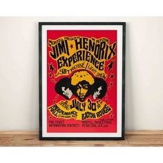 Jimi Hendrix Poster Vintage Tour Poster Reproduction Rock Concert Art... (£4.94) ❤ liked on Polyvore featuring home, home decor, wall art, grey, home & living, home décor, wall décor, vintage concert posters, rock posters and grey wall art