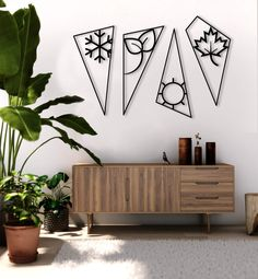 Similarly, the Four Elements Metal Wall Decor by Hencely balances the ambiance of your room. It complements your wall and brings out your artistic personality.