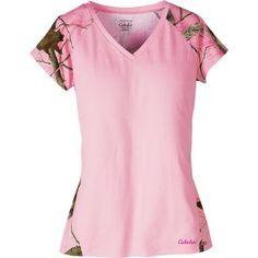 Cabela's Women's Camo Short-Sleeve V-Neck Sleep Tee Shirt