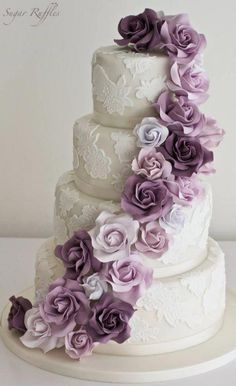 Indescribable Your Wedding Cakes Ideas. Exhilarating Your Wedding Cakes Ideas. Wedding Cake Prices, Purple Wedding Cakes, Amazing Wedding Cakes, Elegant Wedding Cakes, Wedding Cakes With Flowers, Wedding Cake Designs, Wedding Cake Toppers, Flower Cakes, Elegant Cakes