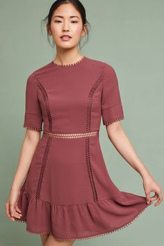 Ruffled Open-Back Dress