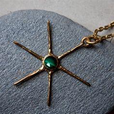 Star pendant (brass)