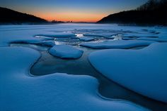 Eagle Lake Sunrise by Peter Bowers, via Flickr. Eagle Lake is in Ontario, Canada. Taken 1/28/06. Stunning!