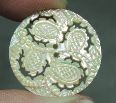Carved MOP Pearl Shell Button | eBay