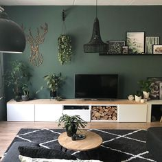 hygge decor living rooms ~ hygge - hygge decor - hygge home - hygge lifestyle - hygge bedroom - hygge living room - hygge aesthetic - hygge decor living rooms Living Room Green, Home Living Room, Living Room Designs, Living Room Decor, Bedroom Decor, Bedroom Ideas, Wall Painting Living Room, Warm Home Decor, Hygge Home