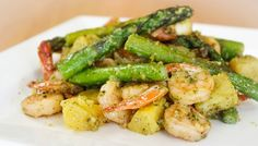 Paleo Pesto Prawn Stir-Fry