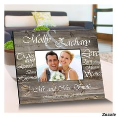 White Tying The Knot Wooden Picture Frames