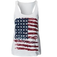 Solilor Womens Stars Stripes American Flag Tank Top Shirts ($7.98) ❤ liked on Polyvore featuring tops, shirts, tank tops, star tank top, star shirt, stripe shirt, shirt top and striped tops