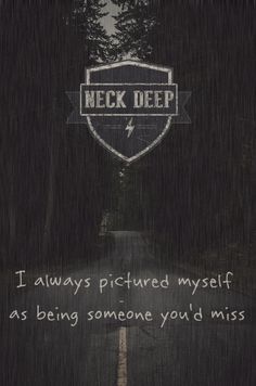 neck deep over and over