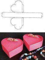 DIY Patterns of Candy Gift Box Heart gift box templateHeart gift box template Candy Gift Box, Diy Gift Box, Candy Gifts, Diy Box, Diy Gifts, Small Gift Boxes, Small Gifts, Diy Paper, Paper Crafts