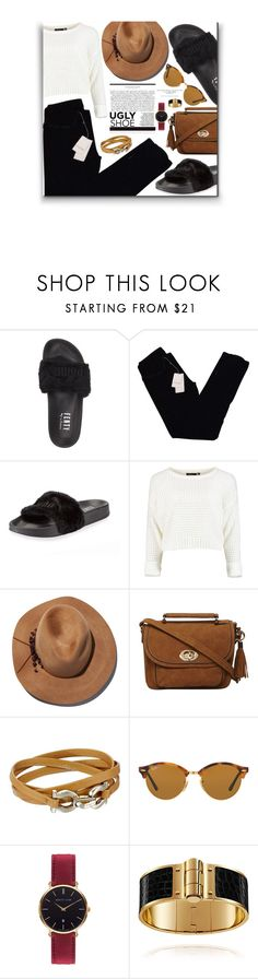 """""""Just a little"""" by ladrianag ❤ liked on Polyvore featuring Puma, Zadig & Voltaire, Eugenia Kim, Dorothy Perkins, Salvatore Ferragamo, Ray-Ban, Abbott Lyon and uglyshoes"""