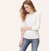 Lace Front Sweatshirt -