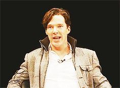 Oh my God, this .gif is ridiculously adorable! I don't know what you're doing with your face, but I love it! Sherlock Holmes John Watson, Sherlock Bbc, British Men, British Actors, Johnlock, Destiel, The Science Of Deduction, Benedict And Martin, Movie Gifs