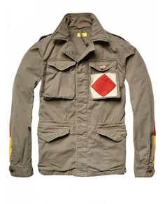 Worked-out military jacket - Jackets - Official Scotch & Soda Online Fashion & Apparel Shops