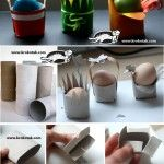 Egg Stands from Toilet rolls. Three different easy to make egg stands. Perfect for your easter table. With instructions. Toilet Roll Craft, Toilet Paper Roll Crafts, Easter Art, Easter Crafts For Kids, Easter Eggs, Spring Crafts For Kids, Diy For Kids, Easter Activities, Easter Holidays