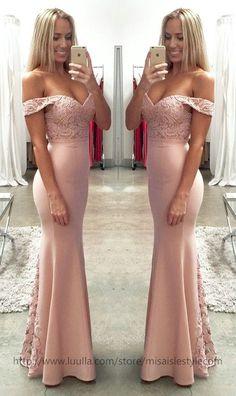 Off Shoulder Party Dress,Blush Pink Lace Formal Dresses,Off Shoulder Bridesmaid Dresses,Mermaid Bridesmaid Dresses,Mermaid Blush Pink Wedding Party Dress