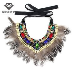 Handmade Exaggerate Jewelry Crystal Necklace Bib Collar Imitation Gems Bead Feather Big Choker Statement Necklace Bijoux Oh just take a look at this!Get it here --->  http://www.rumjewelry.com/product/bosewin-handmade-exaggerate-jewelry-crystal-necklace-bib-collar-imitation-gems-bead-feather-big-choker-statement-necklace-bijoux/ #shop #beauty #Woman's fashion #Products #homemade