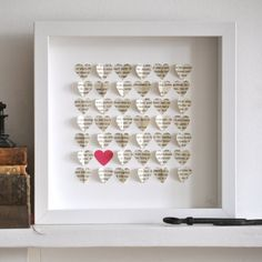 Hearts from book pages