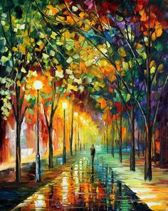 Green Dreams - by Leonid Afremov