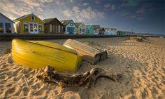 Beach at Mudeford in Dorset. So many happy days spent here.