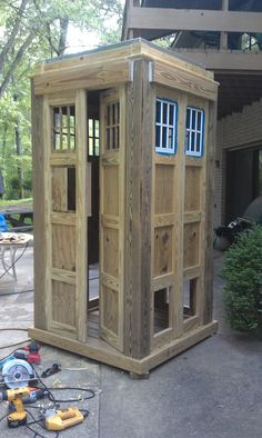 Only Plumbing, Electric, Painting and a few tweaks to go!! I love my TARDIS!!