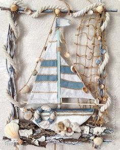 Seashell Projects, Driftwood Projects, Seashell Crafts, Beach Themed Crafts, Beach Crafts, Summer Crafts, Diy Arts And Crafts, Diy Craft Projects, Decor Crafts