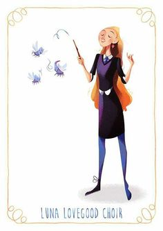 Luna Lovegood // Harry Potter // By: Maud Bihan