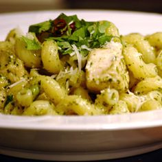 """Teena's Spicy Pesto Chicken and Pasta 