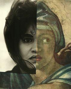 """Saatchi Online Artist Deborah Stevenson; Assemblage / Collage, """""""" Of Two Minds """""""" #art"""