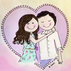 My love #illustration #love #couple