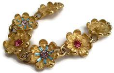 Designer signed Vintage Trifari floral flower by vintagebest, $99.00