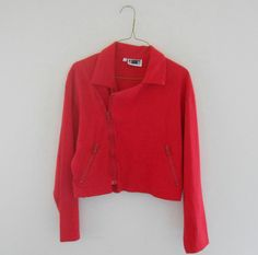 Unique vintage Christmas gift idea for her 1980s red shirt